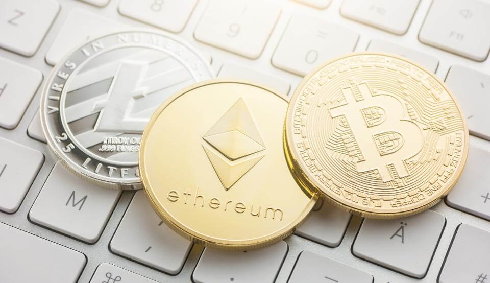 bitcoin litecoin y ethereum criptomonedas