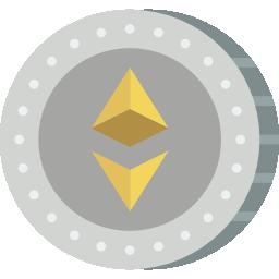 moneda ethereum icono