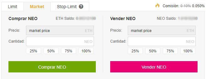 pestaña market binance