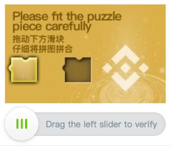 puzzle inicio sesion binance