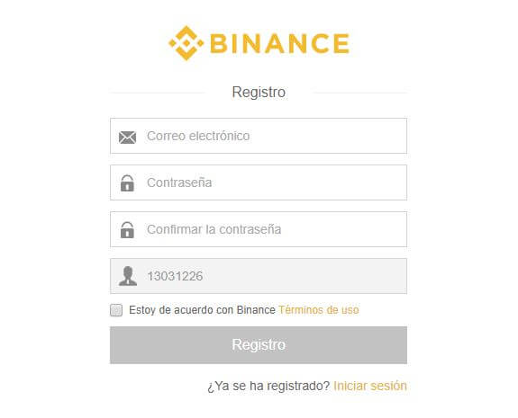 como registrarse en binance