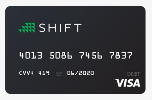 Shift tarjeta coinbase como operar