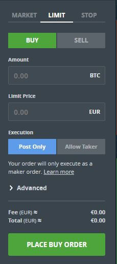 comprar a limite desde coinbase