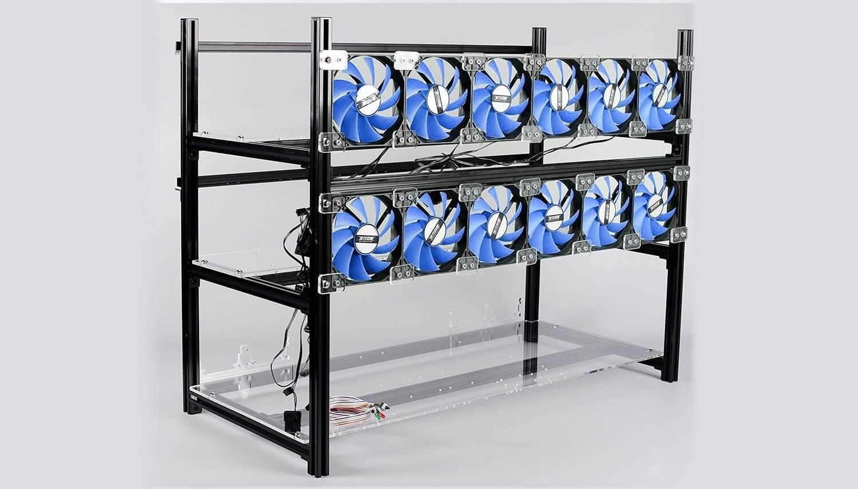 Estantería minera para 14 GPUs