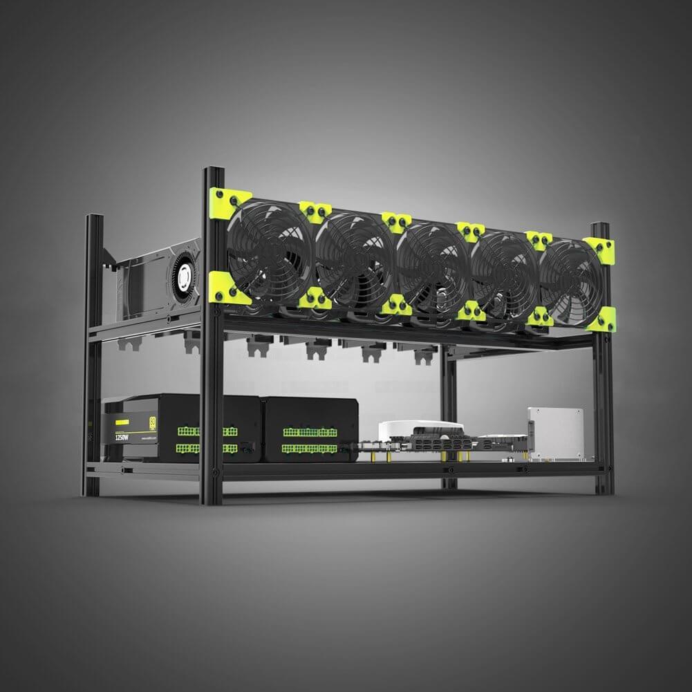 Estantería minera para 6 GPUs