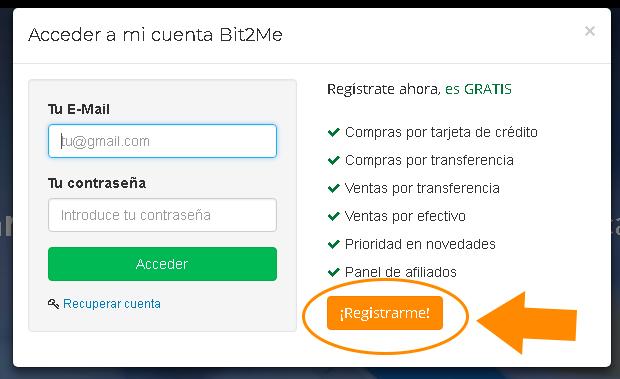 registro en bit2me