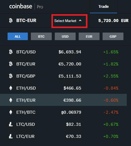 coinbase pro pares trading