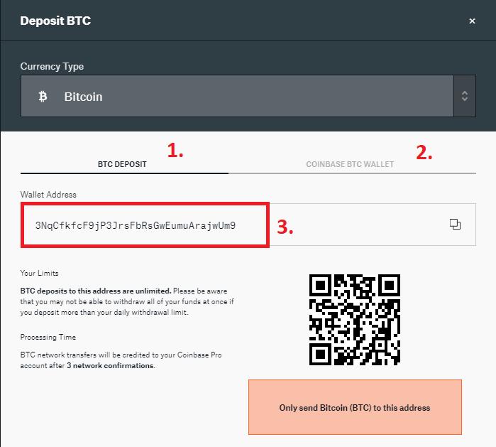 depositar bitcoin coninbase pro gdax