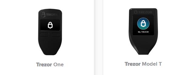 trezor one vs trezor model t