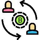 entidades bitcoin icono