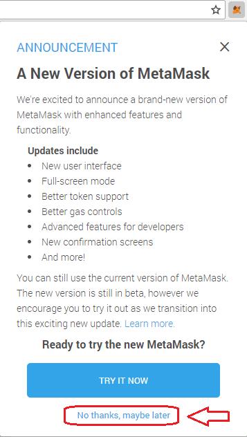 version beta no gracias